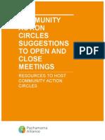 Action Circles Opening and Closing Meetings