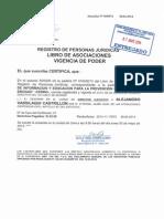 Vigencia de Poder Director Ejecutivo CEDRO 7-05-2014