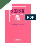 Jacques Ranciere El Maestro Ignorante