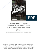 Saint Lucia Tourist Board and the Cultural Development Foundation to Host Globe's Hamlet 2014