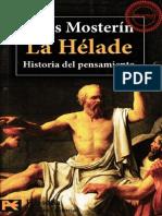 Mosterin Jesus - La Helade - Historia Del Pensamiento