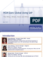 HCM Goes Global Using SAP