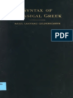 Gildersleeve Syntax of Classical Greek