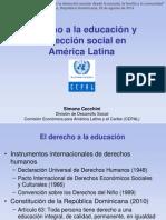 Presentación de Simone Cecchini en el Foro de Combate a la Deserción Escolar