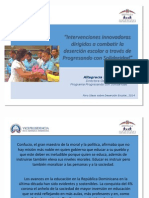Presentación de la Dra. Altagracia Suriel en el Foro de Combate a la Deserción Escolar