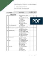 Restaurant Equipment List