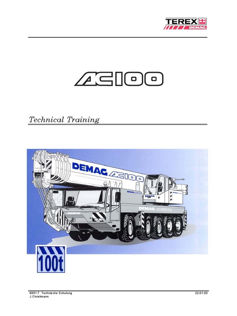 ac100 training manual ver 2 0 pdf axle automatic transmission rh scribd com Demag DH 2000 Maintenance Manual Demag Overhead Crane Parts