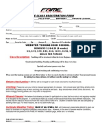 class registration form webster thomas hs