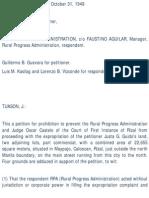 Guido vs Rural Progress Administration