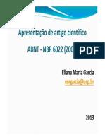 Explicando a NBR 6022 Artigo Científico
