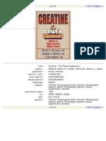 Creatine the Power Supplement LIVRO