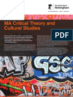 Critical Theory and Cultural Studies Ma