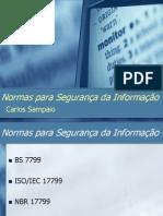 Normas Para Seguranca Informacao