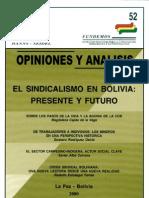 52 El Sindicalismo en Bolivia Presente y Futuro