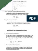 3. Fundamental Laws of Fluid Mechanics