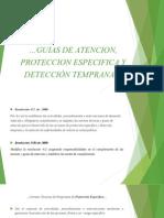 Guias de Atencion, Proteccion Especifica y