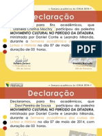 Movimento Cultural No Periodo Da Ditadura