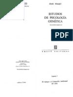 Piaget Jean - Estudios de Psicologia Genetica