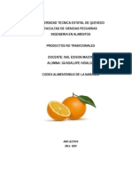 Codex Alimentarius de La Naranja