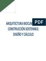 Arquitectura Bioclimatica y Construccion Sostenible