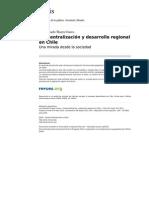 Descentralización y Desarrollo Regional en Chile