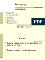 demand forecosting and elasticity of demad