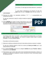 Resumen Equipo #2 Entrar Fórmulas Usando Operaciones Aritméticas