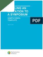 Sample Symposium Email Invitation