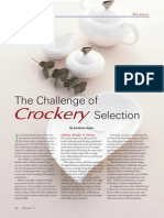 The Challenge of Crockery Selection