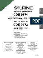 Alpine Cde 9872