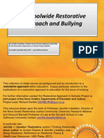 a scoolwide restorative approach and bullying powerpoint