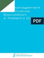 Management of Premature Ejaculation - 2007