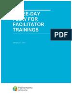 Facilitator Training 3-Day Flow