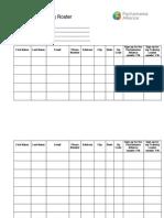 Facilitator Training Roster Printer Friendly Version