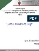Ejm Analisis de Riesgo de Proyectos de Inversion