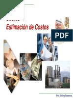 5 Costos y Estimación de Costos