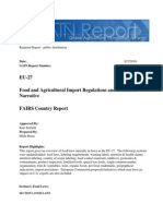 Food and Agricultural Import Regulations and Standards - Narrative_Brussels USEU_EU-27_8!7!2009