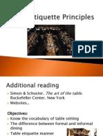 Table Etiquette Principles