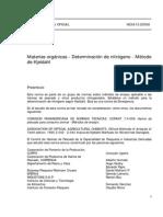 Nch0513-68 Materias Organicas Det. n