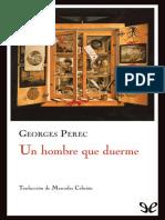 George Perec - Un Hombre Que Duerme