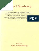 Penser a Strasbourg
