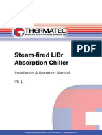 Steam Powered Absorption Chiller Installation and Operation Manual TT