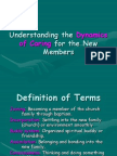Understanding the Dynamics of Caring for New Members