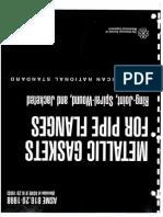 ASME B16.20 (1998) - Gaskets for Flanges