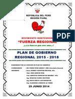 Plan de Gobierno Fuerza Regional