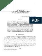 Arenilla, Manuel (1992) El Apoyo a La Toma de Decisiones en La Administración REPNE_077_139