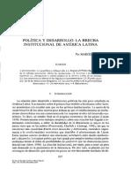 Lasagna, Marcelo (2000) Política y Desarrollo. La Brecha Institucional de América Latina REPNE_110_209