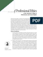 ACOG Code of Professional Ethics Foundations