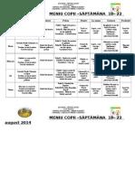 Gradinita Winnie Meniu Copii Saptamana II 18-22 August 2014