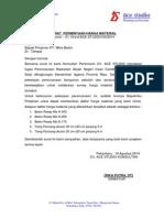 Surat Pengantar Permintaan Harga Material